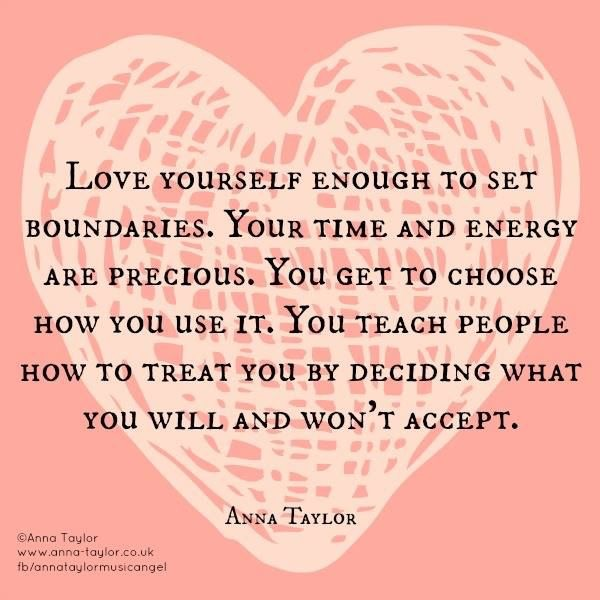 Love yourself enough to set boundaries